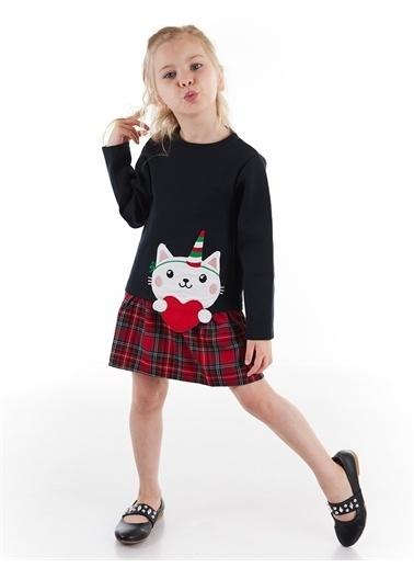 Denokids Unique Cat Kız Elbise Renkli